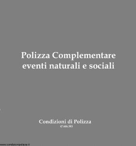Toro - Polizza Complementare Eventi Naturali E Sociali - Modello 47.606.383 Edizione 1983 [SCAN] [6P]