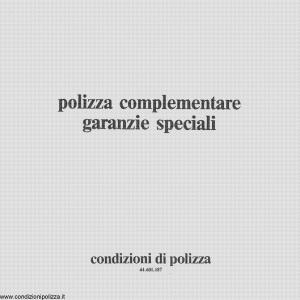 Toro - Polizza Complementare Garanzie Speciali - Modello 44.601.187 Edizione 1987 [8P]