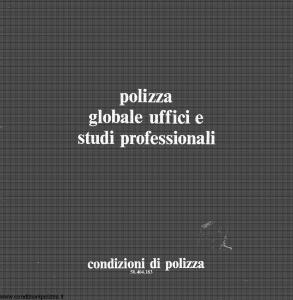 Toro - Polizza Globale Uffici E Studi Professionali - Modello cb058404.183 Edizione 1983 [24P]