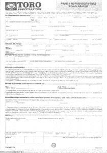 Toro - Polizza Responsabilita' Civile Aziende Industriali - Modello pa014631.592 Edizione 1992 [SCAN] [4P]