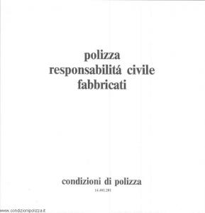 Toro - Polizza Responsabilita' Civile Fabbricati - Modello cb014401.281 Edizione 1981 [SCAN] [9P]