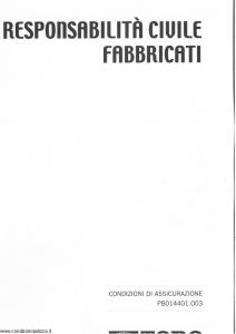 Toro - Responsabilita' Civile Fabbricati - Modello pc014401.003 Edizione 2003 [SCAN] [10P]