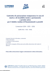 Toro - Salvarata Light Tariffe 452U 453U 454U - Modello f.cpicvita Edizione 05-2013 [10P]