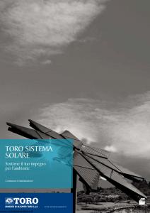 Toro - Toro Sistema Solare Sostiene Il Tuo Impegno Per L'Ambiente - Modello pb59y100.709 Edizione 2009 [26P]