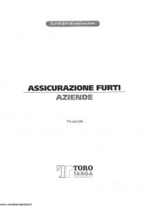 Toro Targa - Assicurazione Furti Aziende - Modello tta1663.d98 Edizione 18-12-1998 [9P]