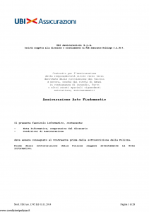 Ubi - Assicurazione Auto Findomestic - Modello 1545 Edizione 03-11-2014 [91P]