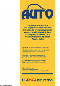 Ubi - Auto - Modello 1384 Edizione 01-12-2010 [84P]