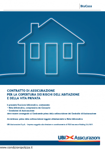 Ubi - Blucasa Assicurazione Copertura Rischi Abitazione E Vita Privata - Modello 1489 Edizione 01-01-2014 [64P]
