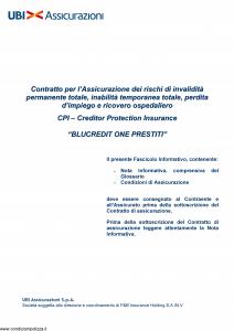 Ubi - Blucredit One Prestiti - Modello 1467 Edizione 30-05-2014 [36P]