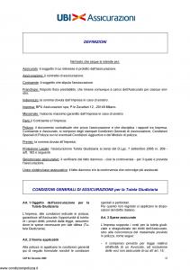 Ubi - Condizioni Generali Assicurazione Per La Tutela Giudiziaria - Modello cgp Edizione 12-2005 [12P]