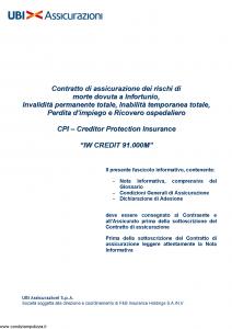 Ubi - Iw Credit 91.000M - Modello 1470 Edizione 01-10-2012 [34P]