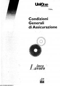 Unione - Linea Lavoro Condizioni Generali Assicurazione - Modello 403.120 Edizione 11-2002 [SCAN] [11P]