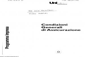 Unione - Programma Impresa Condizioni Generali Assicurazione - Modello 403.181 Edizione 07-2006 [SCAN] [13P]