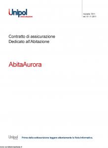 Unipol - Abita Aurora - Modello 7611 Edizione 01-11-2011 [70P]