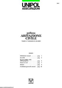 Unipol - Abitazione Civile - Modello 7017 Edizione 08-2003 [11P]