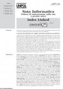 Unipol - Concerto 25 Nota Informativa - Modello 841 Edizione 11-2005 [12P]
