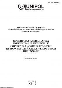 Unipol - Copertura Assicurativa Indennitaria Decennale - Modello 5025-postuma Edizione 07-2010 [12P]