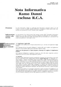 Unipol - Copertura Assicurativa Per Danni Di Esecuzione - Modello 5025-car Edizione 12-2005 [12P]