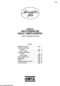 Unipol - Famiglia Piu' Multirischi Dell'Abitazione - Modello 7023 Edizione 01-05-1995 [SCAN] [23P]