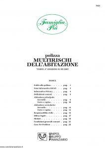 Unipol - Famiglia Piu Multirischi Dell'Abitazione - Modello 7023 Edizione 09-2007 [28P]