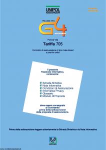 Unipol - G4 Tariffa 705 - Modello 894 Edizione 11-2006 [50P]