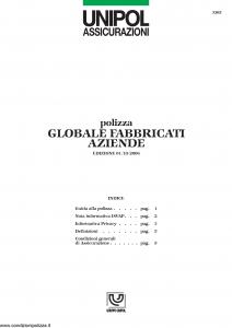 Unipol - Globale Fabbricati Aziende - Modello 3305 Edizione 01-10-2006 [12P]
