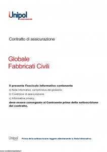 Unipol - Globale Fabbricati Civili - Modello 7026 Edizione 01-08-2011 [34P]