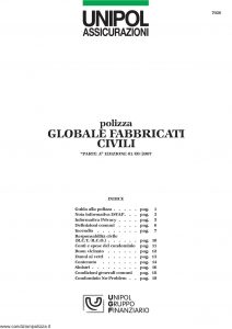 Unipol - Globale Fabbricati Civili - Modello 7026 Edizione 09-2007 [24P]