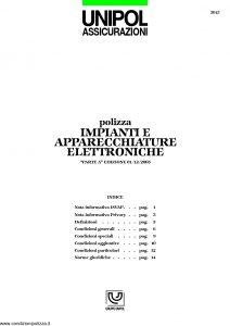 Unipol - Impianti E Apparecchiature Elettroniche - Modello 5015 Edizione 03-2004 [19P]