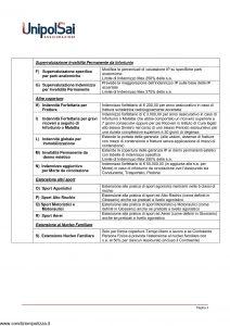 Unipol - Infortuni Premium Scheda Prodotto - Modello nd Edizione nd [7P]