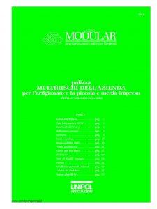 Unipol - Modular Polizza Multirischi Dell'Azienda Per L'Artigianato E La Piccola E Media Impresa - Modello 3021 Edizione 01-2008 [44P]