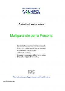 Unipol - Multigaranzie Per La Persona - Modello 1036 Edizione 12-2010 [60P]