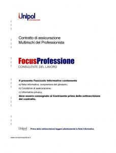 Unipol - Multirischi Del Professionista Focusprofessione Consulente Del Lavoro - Modello 2227-3 Edizione 09-2011 [56P]