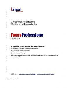 Unipol - Multirischi Del Professionista Focusprofessione Geometra - Modello 2227-7 Edizione 09-2011 [56P]