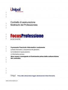 Unipol - Multirischi Del Professionista Focusprofessione Ingegnere - Modello 2227-9 Edizione 09-2011 [56P]