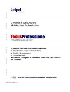 Unipol - Multirischi Del Professionista Focusprofessione Progettista Di Impianti - Modello 2227-8 Edizione 08-2011 [56P]
