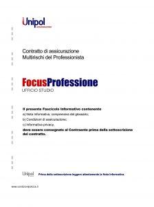 Unipol - Multirischi Del Professionista Focusprofessione Ufficio Studio - Modello 2227-11 Edizione 09-2011 [44P]