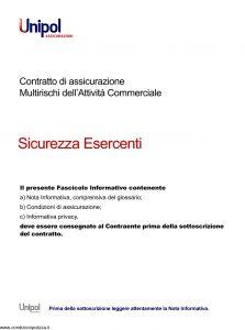 Unipol - Multirischi Dell'Attivita' Commerciale Sicurezza Esercenti - Modello 4026 Edizione 08-2011 [50P]