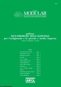 Unipol - Multirischi Dell'Azienda Per L'Artigianato E La Piccola E Media Impresa - Modello 3021 Edizione 03-2004 [37P]
