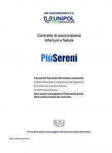 Unipol - Piu' Sereni Assicurazione Infortuni E Salute - Modello s01201a Edizione 03-2011 [74P]
