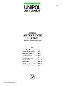 Unipol - Polizza Abitazione Civile - Modello 7017 Edizione 07-2006 [19P]