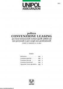 Unipol - Polizza Convenzione Leasing - Modello 5017 Edizione 01-10-2004 [11P]
