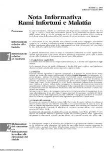 Unipol - Polizza Dell'Imprenditore Gravi Infortuni E Malattie - Modello 1027 Edizione 03-2006 [16P]