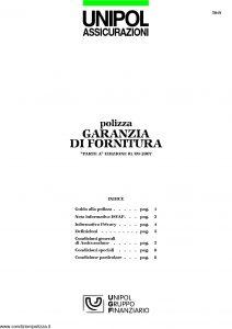 Unipol - Polizza Garanzia Di Fornitura - Modello 5019 Edizione 09-2007 [12P]