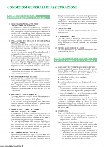 Unipol - Polizza Globale Block Policy Per Gioielli, Orefici, Orologiai - Modello 4011 Edizione 01-10-2004 [8P]