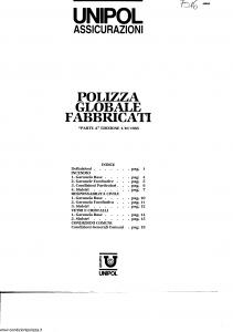 Unipol - Polizza Globale Fabbricati - Modello 7016 Edizione 01-10-1985 [SCAN] [20P]