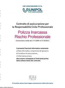 Unipol - Polizza Inarcassa Rischio Professionale - Modello 2029 Edizione 11-2010 [52P]