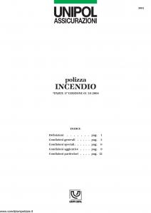 Unipol - Polizza Incendio - Modello 3001 Edizione 01-10-2004 [17P]