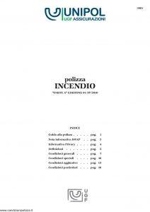 Unipol - Polizza Incendio - Modello 3001 Edizione 07-2010 [24P]