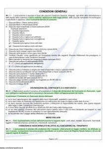 Unipol - Polizza Italiana Assicurazione Merci Trasportate - Modello cg83 Edizione 07-2011 [9P]